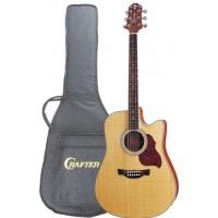 CRAFTER DTE 6/N Электроакустическая гитара с тонкой декой+чехол
