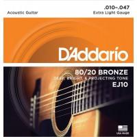 D'addario EJ-10 струны для акустической гитары