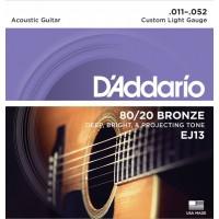D'addario EJ-13 струны для акустической гитары