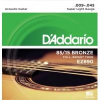 D'addario EZ-890 Super Light Струны для акустической гитары