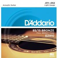 D'ADDARIO EZ-910 Light Струны для акустической гитары