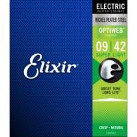 ELIXIR 19002 Струны для электрогитары OPTIWEB Super Light (.009-.042)