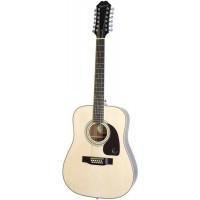 EPIPHONE DR-212 NATURAL CH HDWE гитара акустическая, 12-струнная