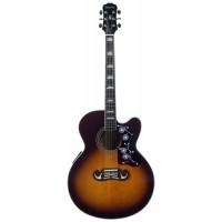 EPIPHONE EJ-200CE VINT. SUNBURST GLDL гитара электроакустическая