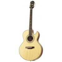 EPIPHONE PR-5E NATURAL GOLD HDWE (W/ SHADOW PREAMP) электроакустическая гитара, цвет натуральный, корпус - махагон, топ - ель, гриф - махагон, мензура 25,5, звукосниматель eSonic System, фурнитура -золотистого цвета