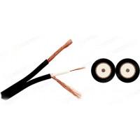 Mogami 2947-00 двойной коаксиальный кабель HF Coax 75Ом, 2х3,0мм черный