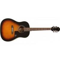 EPIPHONE AJ-220S Solid Top Acoustic Vintage Sunburst акустическая гитара, цвет санберст