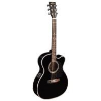 Sigma 000MC-1STE-BK Электроакустическая гитара, цвет черный