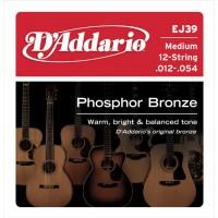 D'ADDARIO EJ-39 Medium Струны для 12-ти струнной гитары