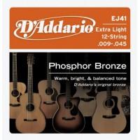 D'ADDARIO EJ-41 Extra Light Струны для 12-ти струнной гитары