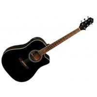 FLIGHT AD-200 CEQ BK Электроакустическая гитара