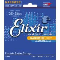 Elixir 12077 Anti Rust NanoWeb Light Heavy Струны для электрогитары