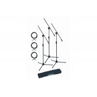 QUIK LOK A302Pack EU набор из 3х микрофонных стоек A302, 3х кабелей XLR-XLR длиной 5 м и чехла